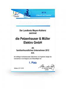 Auszeichnung Kreisverwaltung